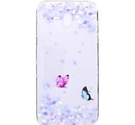 Чехол для samsung galaxy j7 2017 j5 2017 чехол для крышки бабочка цветочным узором tpu высокая чистота полупрозрачный мягкий чехол для