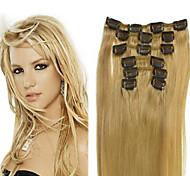 70g (7шт) / девственница бразильский установить волосы прямые клип в расширениях человеческих волос