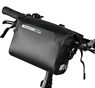 ROSWHEEL DRY 3L Cycling Bike Bicycle Handlebar Front Basket PVC Full Waterproof Bags Bike Accessories Cycle Pannier Pouch
