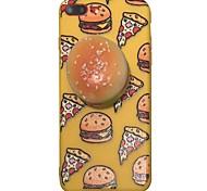 Случай для яблока iphone 7 7 плюс крышка случая squishy гамбургский шаблон утолщение tpu материал imd корабль телефон случай для iphone 6