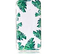 Case For Samsung Galaxy J7 Perx J7 (2017) Case Cover Green Leaves Pattern Feel Varnish Relief High Penetration TPU Material Phone Case For J5 (2017)