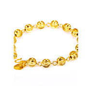 Men's Women's Chain Bracelet Personalized Rock Fashion Vintage Adjustable Gold Plated Round Geometric Irregular Jewelry For Party Gift