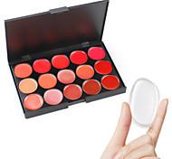 Pro Lip Cream Palette Nude Shimmery Pink Lips Care Tint Glitter Lipstick Jelly Women Make Up Bright Long Lasting Set Checked Case Kit