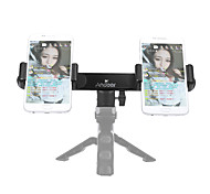 Andoer Smartphone Live Broadcast Bracket with Dual Phone Holders Clips Ball Head Tripod Adapter Mount for iPhone 7/ 7 Plus