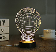 1 Set, Popular Home Acrylic 3D Night Light LED Table Lamp USB Mood Lamp Gifts, Bulb
