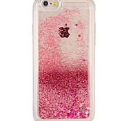 Случай для яблока iphone 7 плюс iphone 7 крышка текущая жидкость задняя крышка случае блеск блеск жесткий ПК для iphone 6s плюс iphone 6