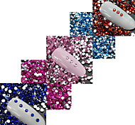 20000pcs/Pack 1.5mm Colorful Nail Art Rhinestones Acrylic Crystal Jewelry Decoration Nail Flat Back Crystal Rhinestones DIY Manicure Accessory 201-212