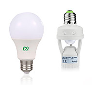 cheap -YWXLIGHT® 7W 600-700lm E27 LED Globe Bulbs 14 LED Beads SMD 2835 Human Body Sensor Decorative Warm White White 85-265V