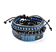 cheap -Men's Women's Leather Bracelet Jewelry Classic Bohemian Basic Handmade Hypoallergenic Adjustable Leather Circle Geometric Jewelry Wedding