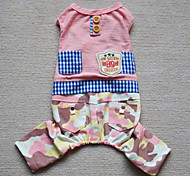Cat Dog Clothes/Jumpsuit Blue Pink Dog Clothes Winter Spring/Fall Camouflage Holiday Fashion