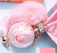 Bag / Phone / Keychain Charm Crystal / Rhinestone Style Tassel Cartoon Toy Fur Ball Phone Strap Faux Fur