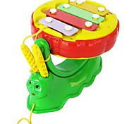Музыкальные игрушки Игрушечные инструменты Игрушки улитка Барабанная установка Игрушки Пластик Куски Дети Подарок