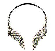 Women's Statement Necklaces Imitation Diamond AlloyGeometric Statement Jewelry Elegant Bling Bling Metallic Fashion Bohemian Personalized