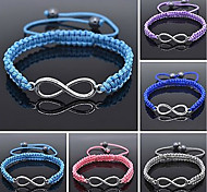 NEW Multi Coloured Nylon Cord & Cotton Wax Cord INFINITY Adjustable Bracelet