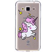 cheap -Case For Samsung Galaxy J7 V J5 Prime Case Cover Unicorn Pattern High Penetration TPU Material Scratch Phone Case For Samsung Galaxy J3 J3 (2016)