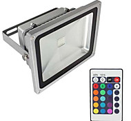 1pcs 20W RGB 2000LM Led Flood Light RGB Color Changing Waterproof Wall Security Lights with Remote Control IP65 AC85-265V