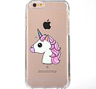 Case For IPhone 7 6  TPU Cartoon Unicorn Soft Ultra-thin Back Cover Case Cover iPhone 7 PLUS 6 6s Plus SE 5s 5 5C 4S 4