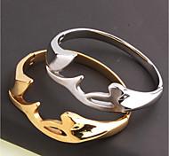 Муж. Жен. Браслет цельное кольцо Браслет разомкнутое кольцо Геометрический Металлик По заказу покупателя Открытые Bling BlingТитановая
