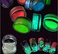 1g/Bottle Fashion Fluorescence Glitter Powder Glow In Dark Colorful Sand Powder DIY Shiny Nail Beauty A1-10