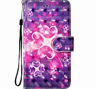 cheap -Case For Huawei P8 LITE P9 LITE Flower Pattern 3D PU Wallet Leather Card Holder with Hand Strap for Huawei P10 P10 LITE Y5 II P8 LITE 2017