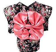 Собака Костюмы Одежда для собак На каждый день Цветочные/ботанический Черный Розовый