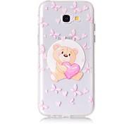 Случай для samsung galaxy a5 (2017) a3 (2017) телефон случай tpu материал медведь картина окрашенный телефон случай