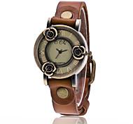 XU Women's Vintage Wrist Watch Leather Belt Casual Rose Bracelet Watch