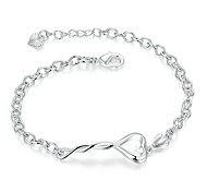 Women's Girls' Chain Bracelet Crystal Geometric Friendship Fashion Simple Style Crystal Silver Plated Geometric Jewelry For Wedding Party