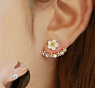 cheap -Women's 1 Stud Earrings Drop Earrings Crystal Flower Style Sterling Silver Crystal Flower Jewelry Christmas Wedding Party Special