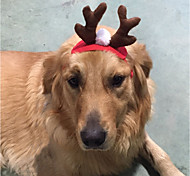 Dog Hair Accessories Dog Clothes Christmas Reindeer Red Costume For Pets