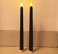 2PCS 11Tall Classic Flickering Flameless LED Taper Candles  Battery-operated LED Candles