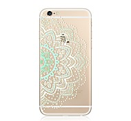 Case For Apple iPhone X iPhone 8 Plus Transparent Pattern Back Cover Mandala Lace Printing Soft TPU for iPhone X iPhone 8 Plus iPhone 8