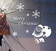 Рождество Праздник Наклейки Простые наклейки Декоративные наклейки на стены,Бумага материал Украшение дома Наклейка на стену
