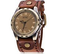 Herrn Einzigartige kreative Uhr Armbanduhren für den Alltag Modeuhr Armband-Uhr Chinesisch Quartz Leder Band Retro Freizeit Elegant
