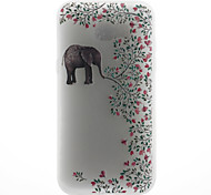 Case For Samsung Galaxy A5 (2017) A5 (2016) Case Cover Elephant Pattern 3D Relief Milk TPU Material Phone Case For Galaxy A3 (2016)