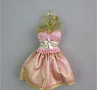 cheap -Cute Dress For Barbie Doll Rose Gold Dress For Girl's Doll Toy