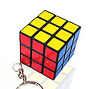 Rubik's Cube Smooth Speed Cube Magic Cube Key Chain Smooth Sticker Plastics Square Gift
