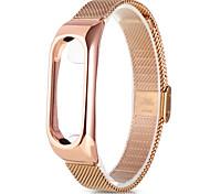 Браслет из нержавеющей стали для xiaomi mi band 2 металлический корпус - стальная лента розовое золото