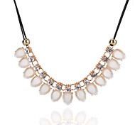 Women's Statement Necklaces Crystal Imitation Diamond Drop Crystal Alloy Fashion Simple Style Classic Elegant Jewelry ForDaily Casual