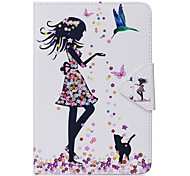 Case For Ipad Mini 1 2 3 Mini 4 Case Cover Sexy Lady Pattern PU Material Triple Tablet PC Case Phone Case