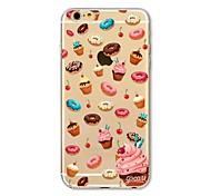Недорогие -Кейс для Назначение Apple iPhone X iPhone 8 Plus Прозрачный С узором Кейс на заднюю панель Композиция с логотипом Apple Плитка Продукты