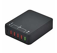 Зарядное устройство USB 6 портов Настольная зарядная станция С быстрой зарядкой 3.0 Адаптер зарядки