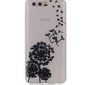 Case for Huawei Honor 9 Cover Glow in the Dark Back Cover Case Dandelion Soft TPU