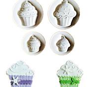 Недорогие -4pcs / lot мороженое формы печенье fondant пластиковые формы тиснителя формы печенье формы дий торт украшения