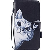 For iPhone 7 iPhone 7 Plus Case Cover Wallet Card Holder with Stand Flip Pattern Magnetic Full Body Case Cat Hard PU Leather for Apple