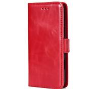 cheap -Case For LG K8 LG LG K10 Card Holder Wallet with Stand Flip Magnetic Full Body Cases Solid Color Hard Genuine Leather for LG K10 (2017)