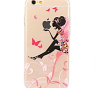 cheap -For iPhone 7 iPhone 7 Plus Case Cover Ultra-thin Transparent Pattern Back Cover Case Sexy Lady Cartoon Soft TPU for Apple iPhone 7 Plus