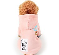 Cat Dog Coat Dog Clothes Casual/Daily Keep Warm Animal Dark Blue Pink Costume For Pets
