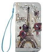 For iPhone 7 iPhone 7 Plus Case Cover Wallet Card Holder Flip Pattern Magnetic Full Body Case Eiffel Tower Hard PU Leather for Apple