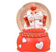 Pelotas Caja de música Juguetes Circular Pato Cristal Piezas Unisex Cumpleaños día de San Valentín Regalo